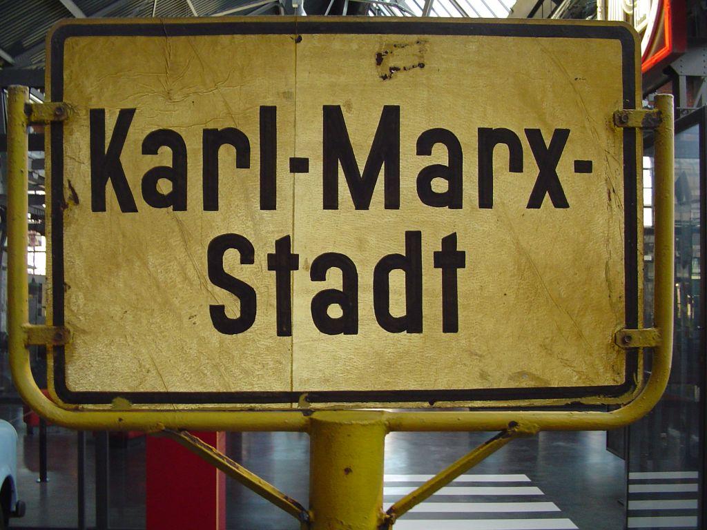 Karl-Marx-Stadt-Schild
